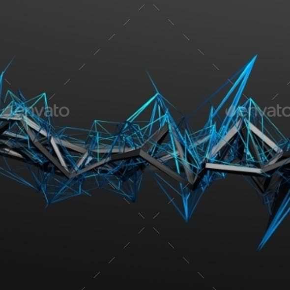 Abstract 3D Rendering Of Chaotic Structure.