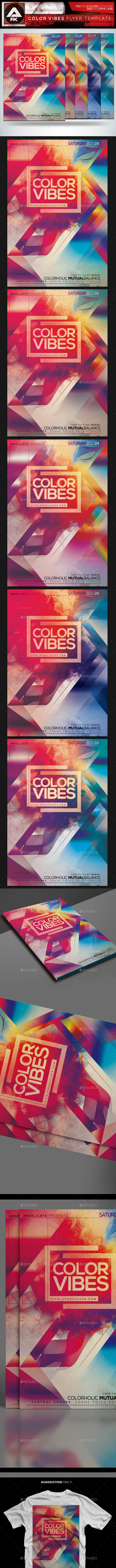 Color Vibes Flyer Template - Flyers Print Templates