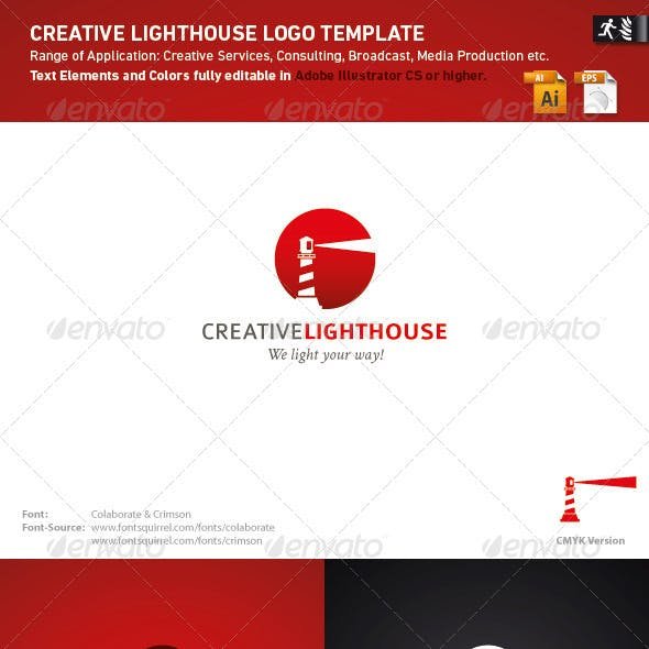 Creative Lighthouse Logo Template