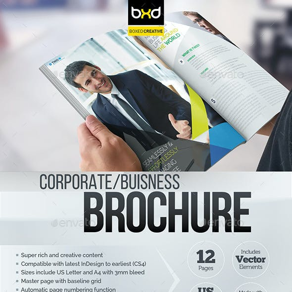 Brochure Template - InDesign 12 Page Layout 08