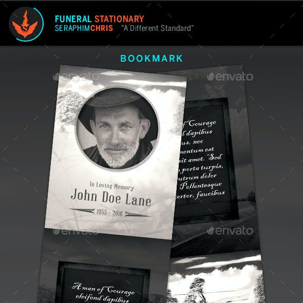 Vintage Funeral Program Stationery Template