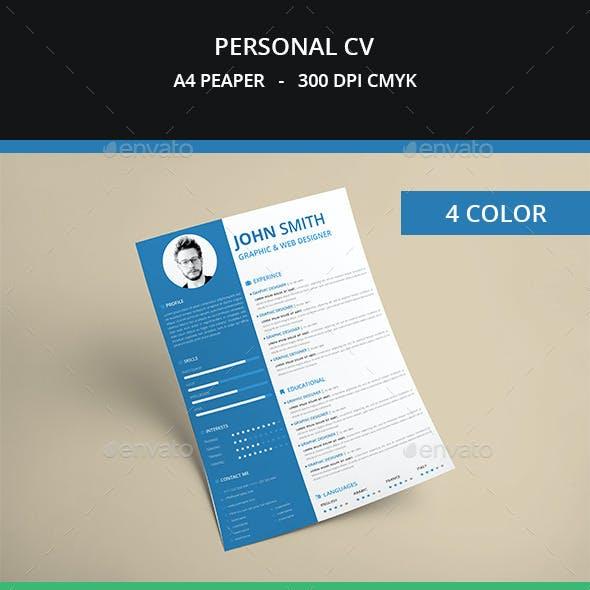 Personal Resume CV
