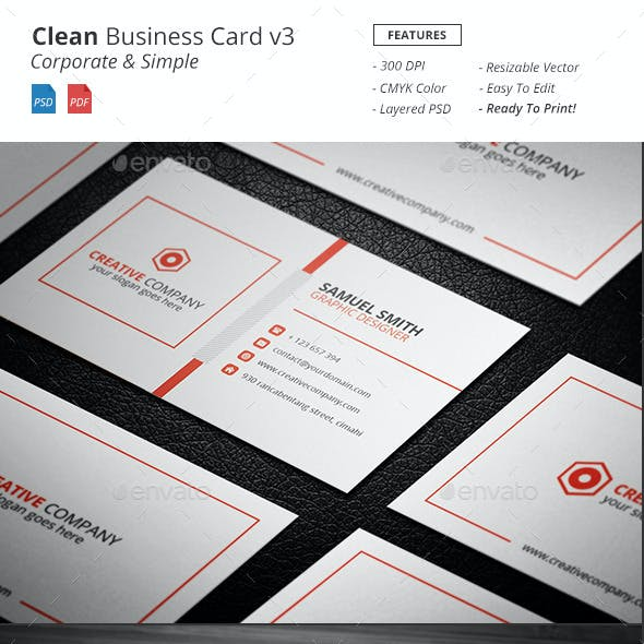 Clean - Corporate Bussiness Card v3