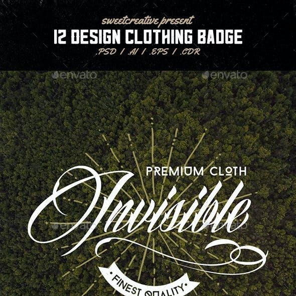 12 Vintage Clothing Logo Badges & Labels V3