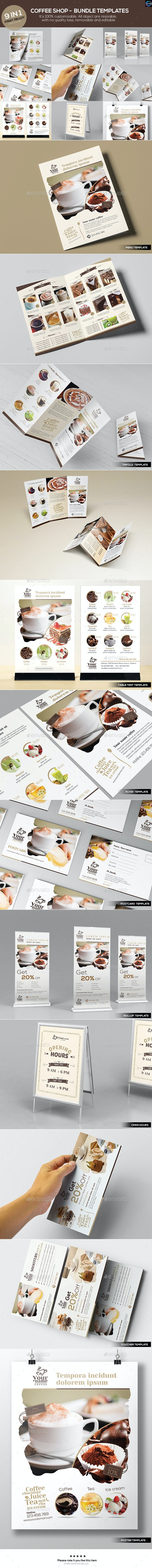 Coffee Shop - Bundle Templates - Food Menus Print Templates
