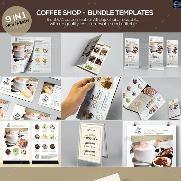 Coffee Shop - Bundle Templates