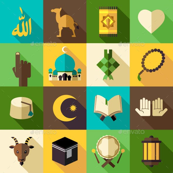Islam Flat Modern Icon Vector Illustration