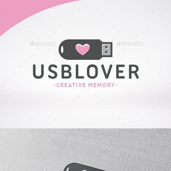 Usb Love Logo Template