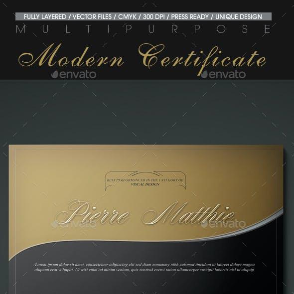 Multipurpose Modern Certificate v.15