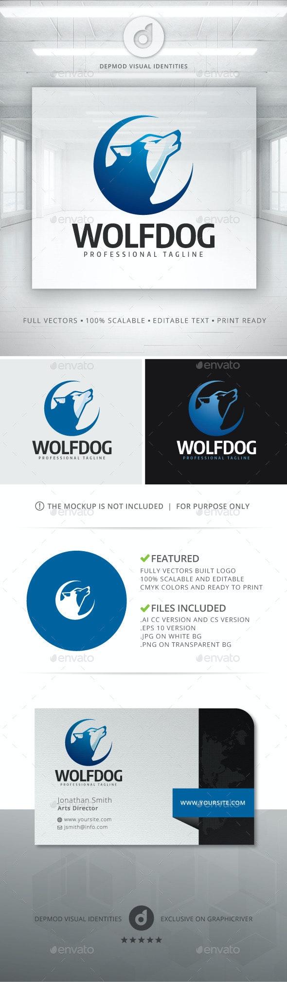 Wolf Dog Logo - Animals Logo Templates