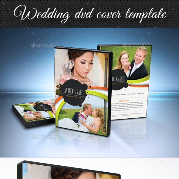 Wedding DVD Cover Template 14