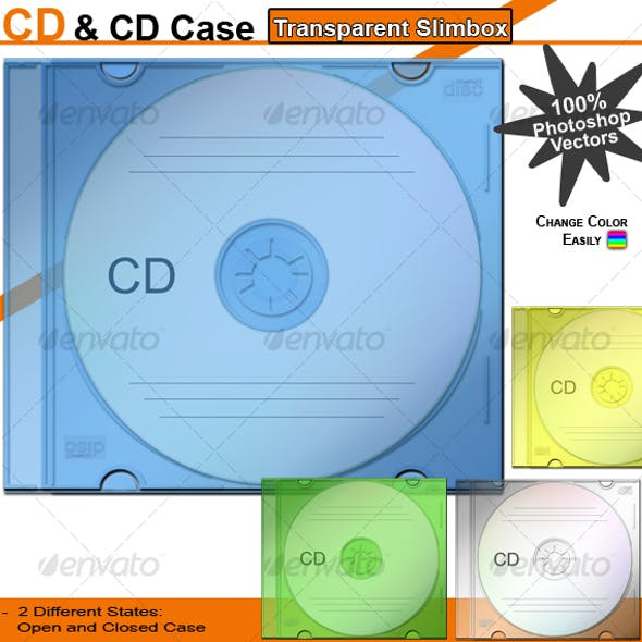 CD & CD Case – Transparent Slimbox