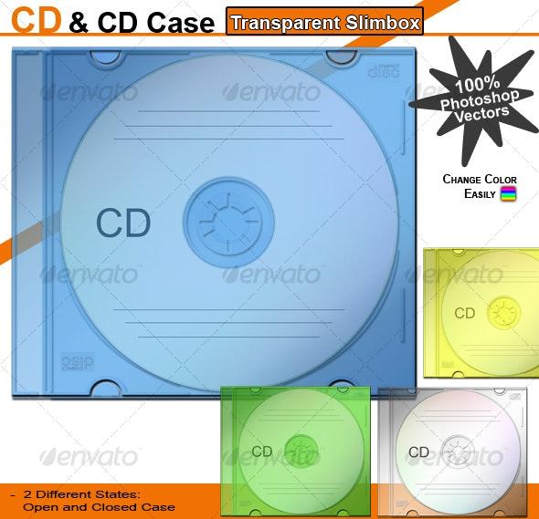 CD & CD Case – Transparent Slimbox - Discs Packaging