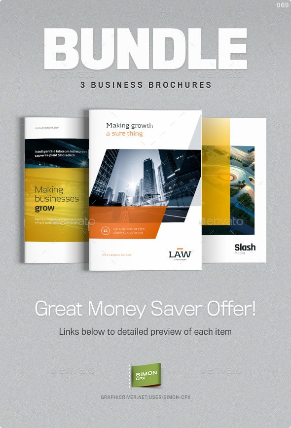 Brochure Bundle - Templates for Indesign - Corporate Brochures