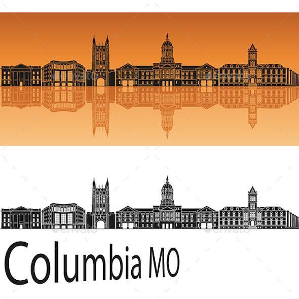 Columbia MO Skyline in Orange