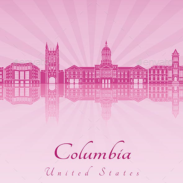 Columbia Skyline in Purple Radiant Orchid