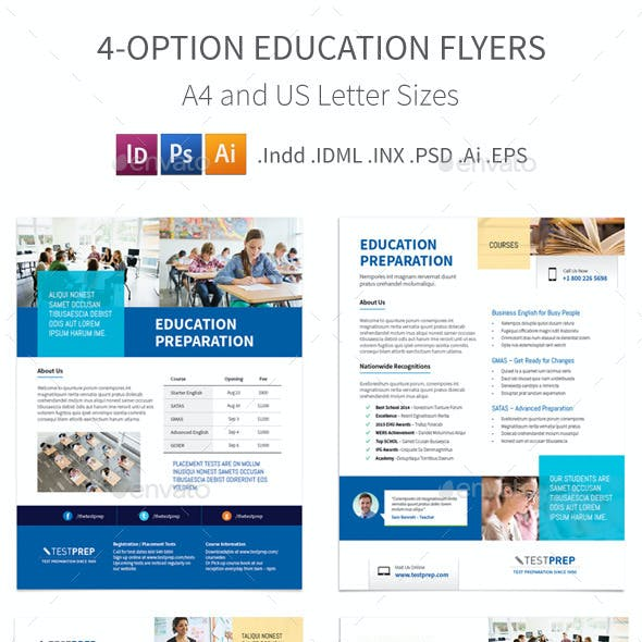 Education Flyers – 4 Options