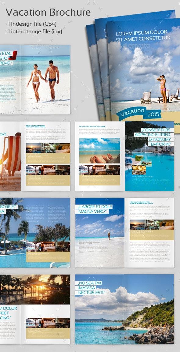 Vacation Brochure - Informational Brochures
