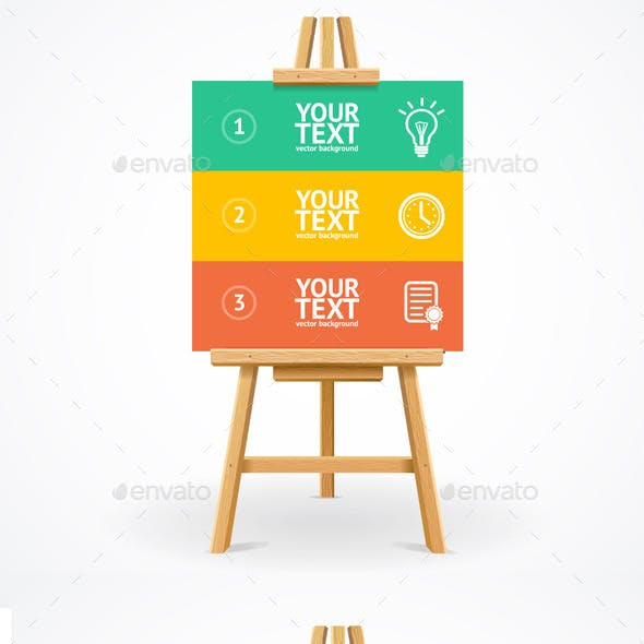 Wooden Easel Option Banner