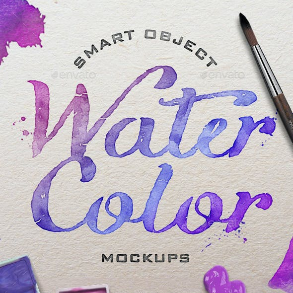 Watercolor Scene Mockups