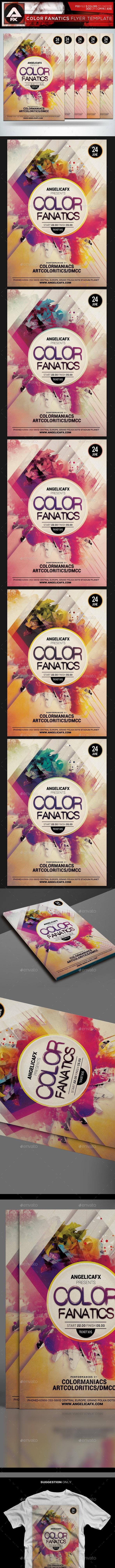 Color Fanatics Flyer Template - Events Flyers