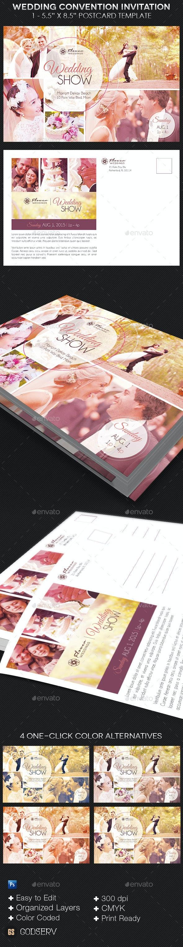 Wedding Convention Invitation Template - Invitations Cards & Invites