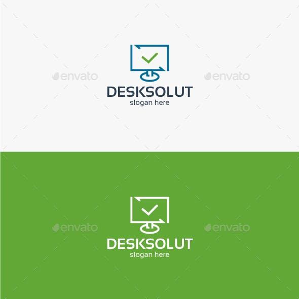 Desktop Solution - Logo Template