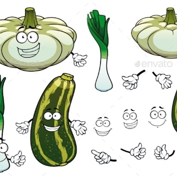 Onion, Squash And Zucchini Vegetables