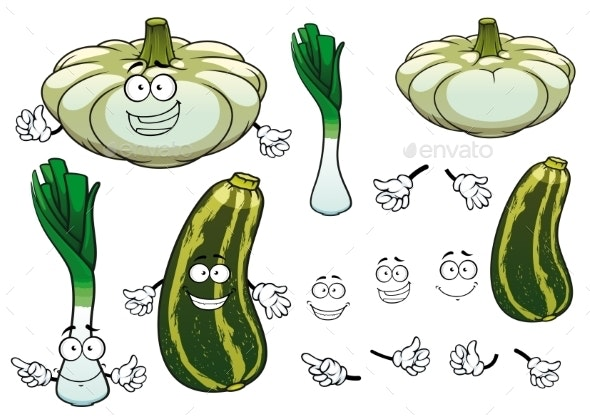 Onion, Squash And Zucchini Vegetables  - Food Objects