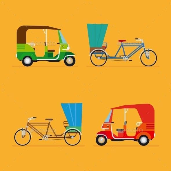 Indian Rickshaw. Auto Rickshaw And Pedicab