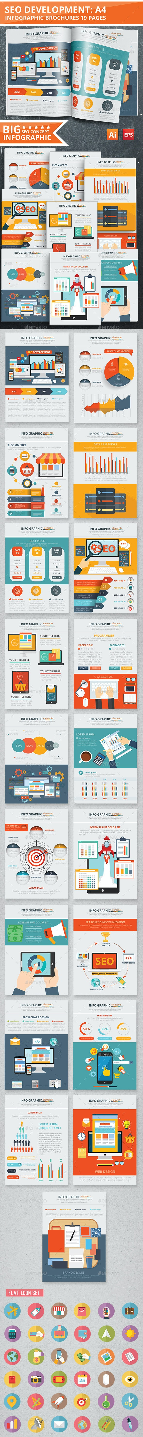 SEO Development Infographic Design 19 Pages - Infographics