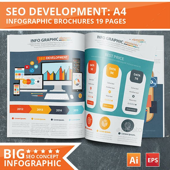 SEO Development Infographic Design 19 Pages