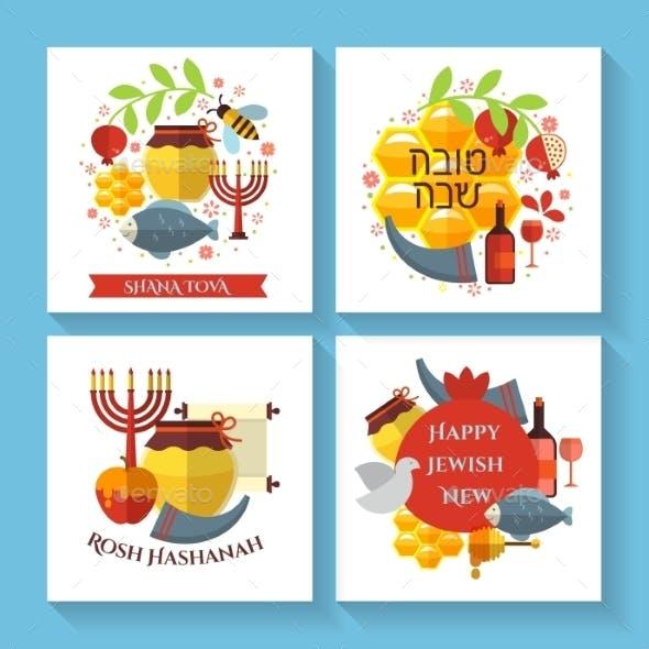 Happy Jewish New Year Shana Tova Greeting Cards