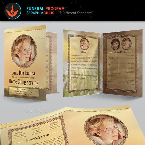 Vintage Funeral Program Template 2