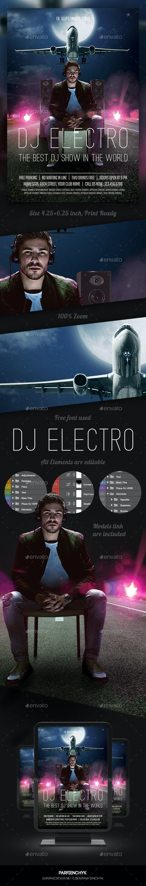 Music Dj Flyer - Clubs & Parties Events