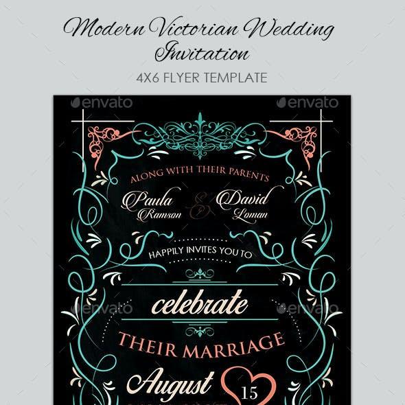 Modern Victorian Wedding Invitation I