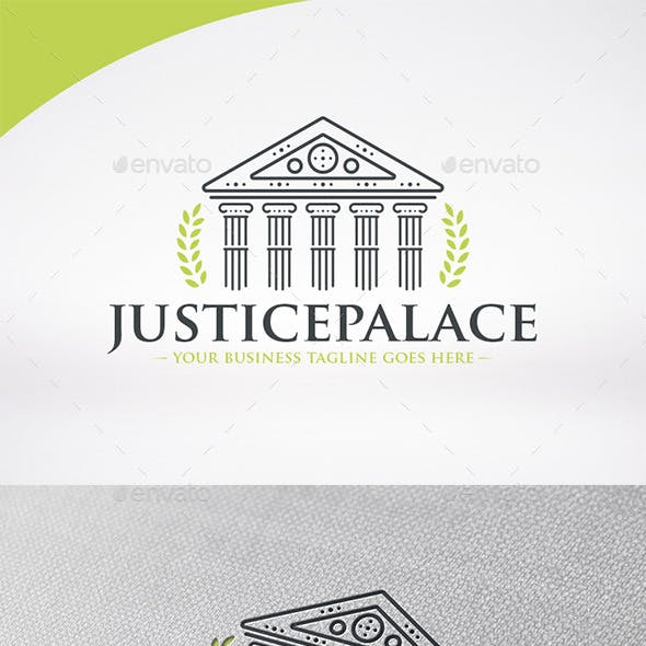 Justice Palace Logo Template