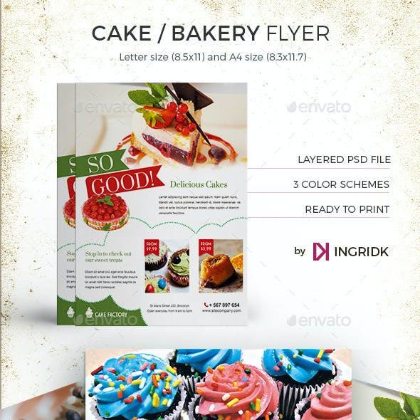 Cake / Bakery Flyer or Magazine Ad