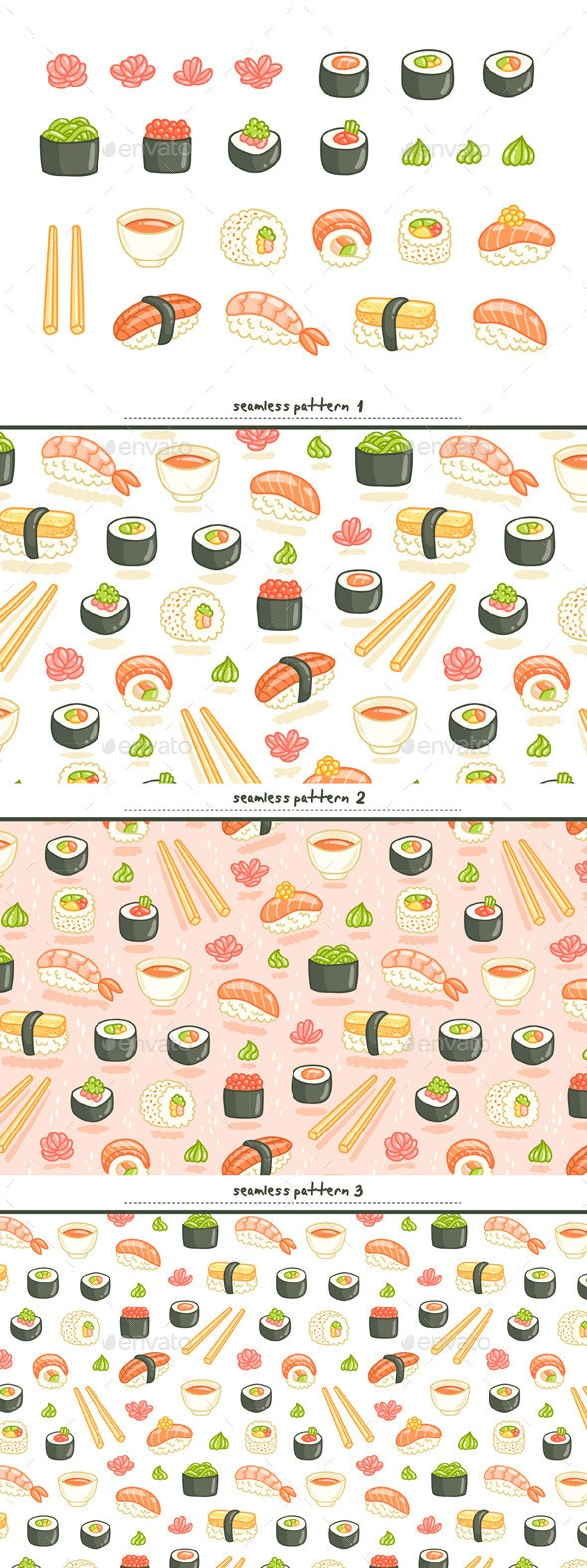 Sushi Set - Food Objects