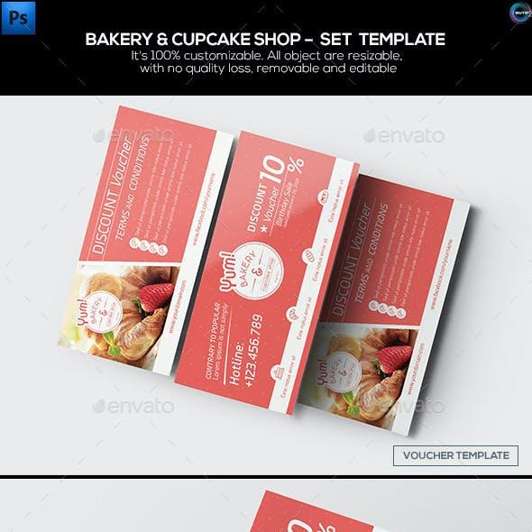 Bakery & Cupcake Shop - Set Template