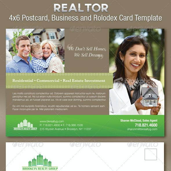 Real Estate Flyer Plus Business Cards Template