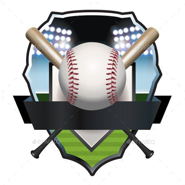 Baseball Badge Illustration