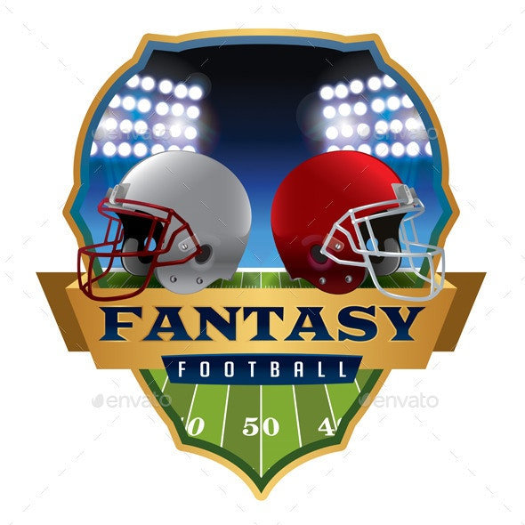 American Fantasy Football Emblem Illustration - Sports/Activity Conceptual