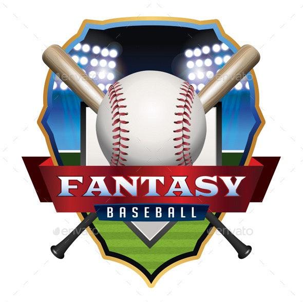 Fantasy Baseball Emblem Illustration - Sports/Activity Conceptual