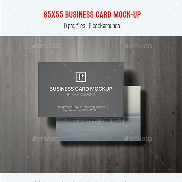 85x55 Business Card Mock-Up Vol. 2