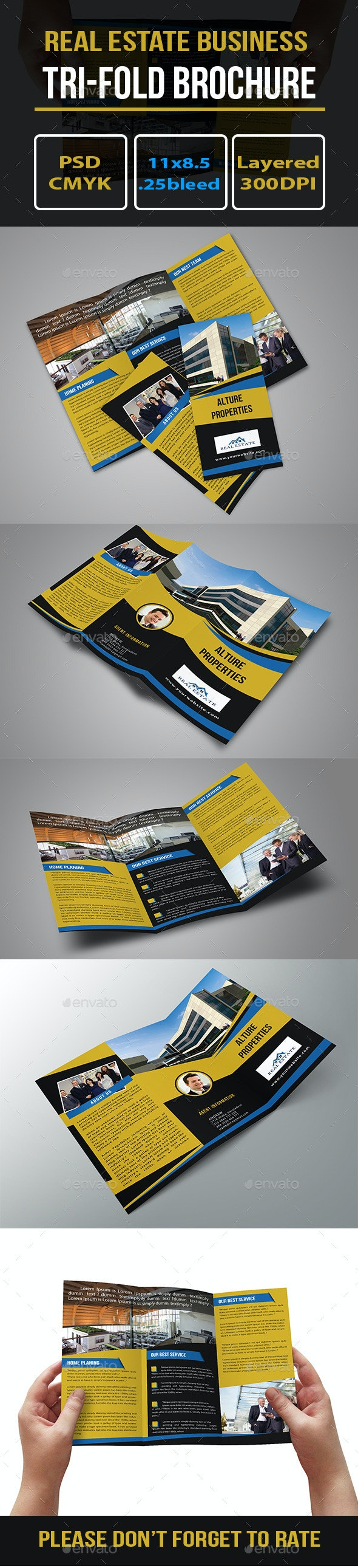 Real Estate Trifold Brochure Template - Brochures Print