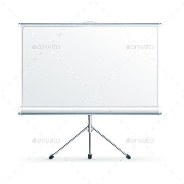 Blank Projection Screen - Vectors