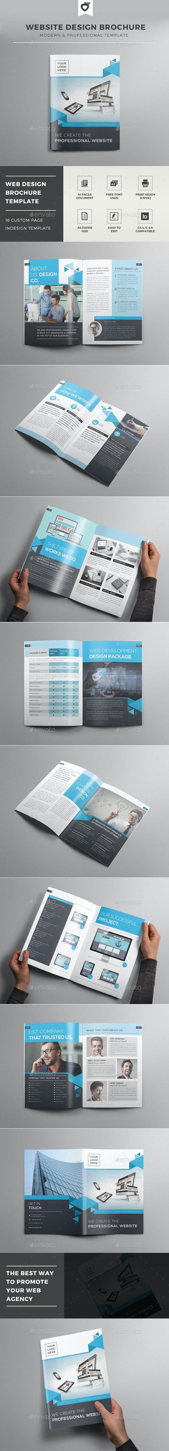 Website Design Brochure Template - Informational Brochures