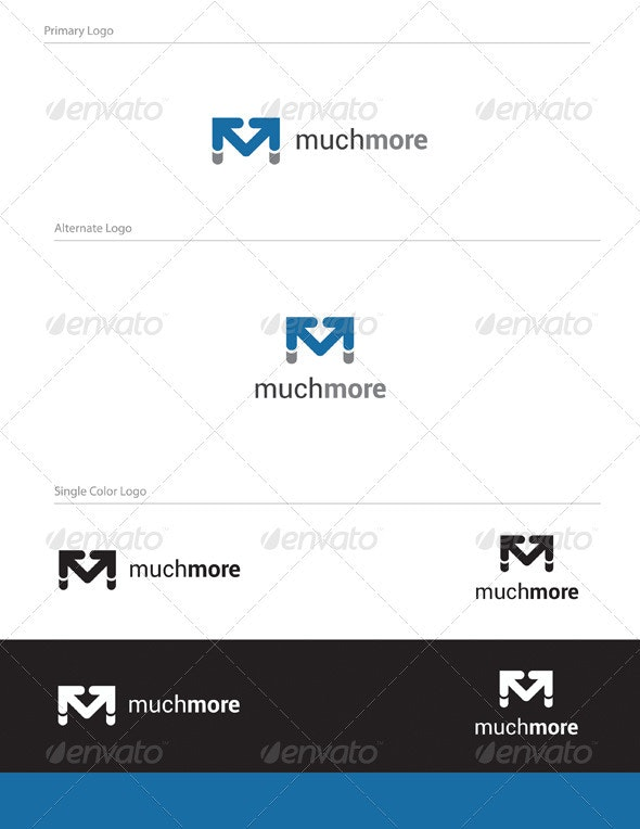 Much More Logo Design - Letters Logo Templates