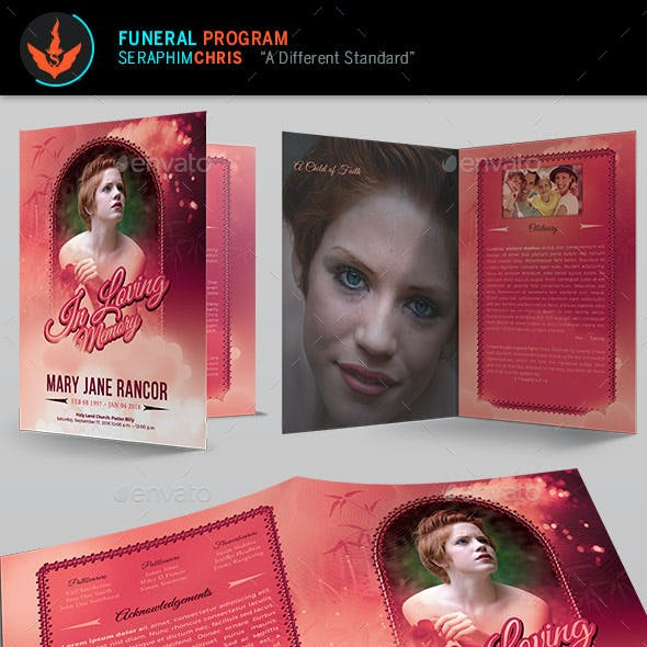 Teen Funeral Program Template